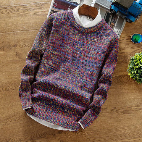 Classic round neck fashion knit sweater
