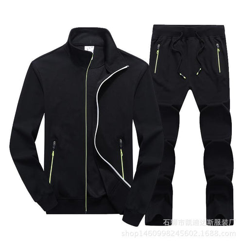 Cotton Joker Cardigan Sportswear Fitness Running Training Set Suit