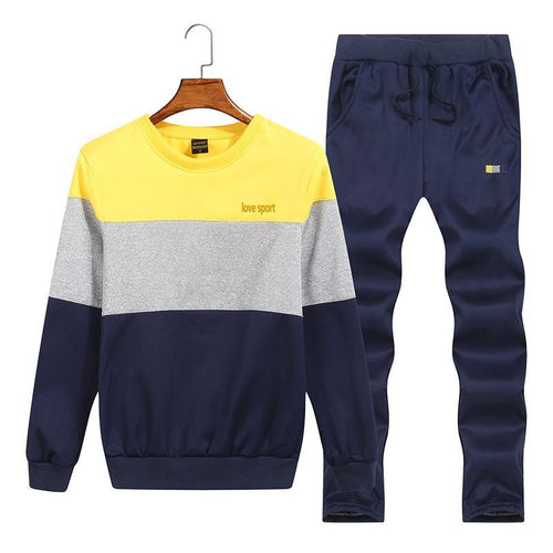 New Men's Suit Casual Trend Color Matching Sports