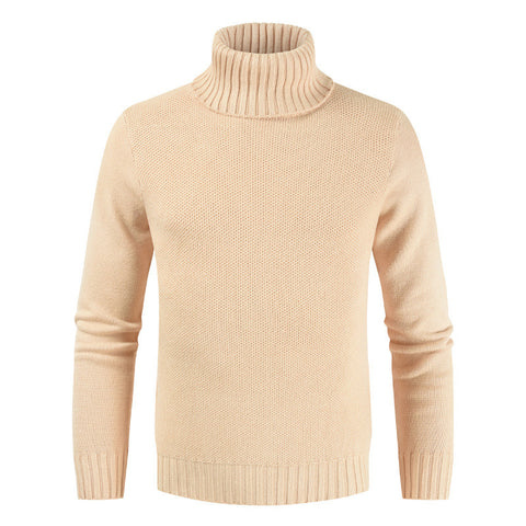 Men's Slim Turtleneck Solid Color Sweater
