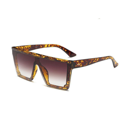 New Trend Square Men's Sunglasses One-Piece Lens