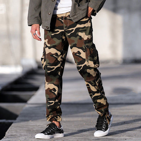 Fashion Camouflage Tooling Casual Pants