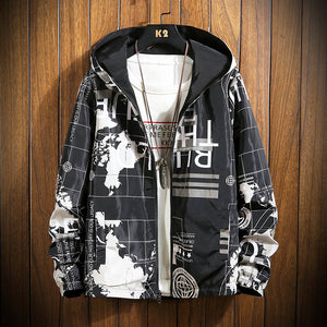 Mens Fashion Double-faced Hooded Jacket