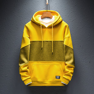 Men's casual round neck contrast color loose sweatshirt