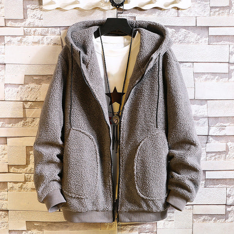 Casual Hooded Pure Color Jacket