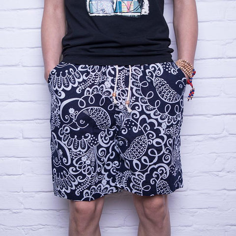 Breathable Comfort Casual Men's Linen Shorts Style 2