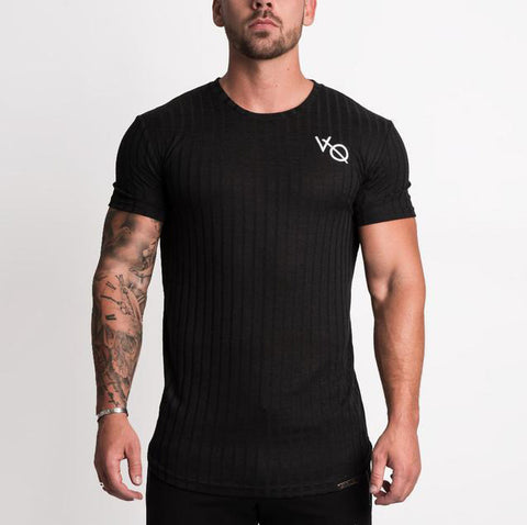 Men's Fashion Elastic Tight T-Shirt