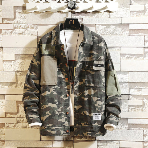 Mens Camouflage Joker Casual Jacket