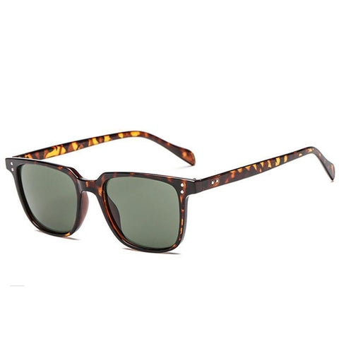 Men's Square Sunglasses Trend Retro Glasses Colorful Fashion Sunglasses Personality Nail Sunglasses