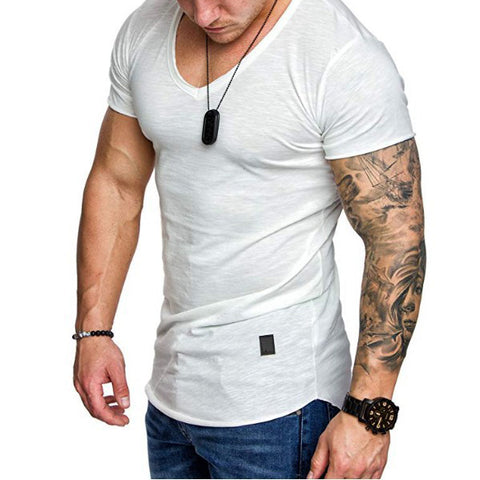 Men's Casual  V-Neck Summer Short Sleeve T-Shirt
