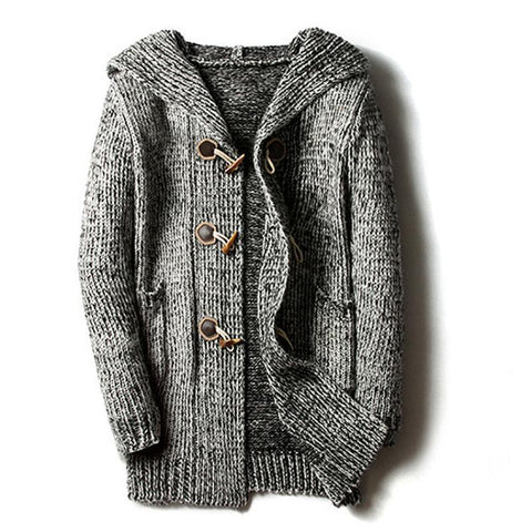 Horn Buckle Cardigan Sweater