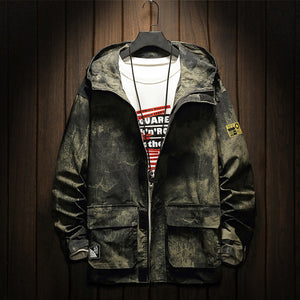 Men's Casual Hooded Camouflage Jacket