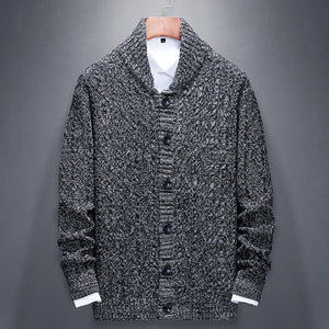 Casual Korean Single-breasted Solid Color Loose Long Sleeve Sweater