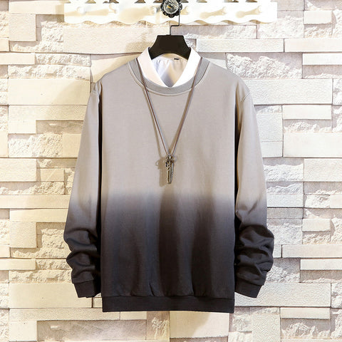 Men's Casual Loose Gradient Long Sleeve Sweatshirt