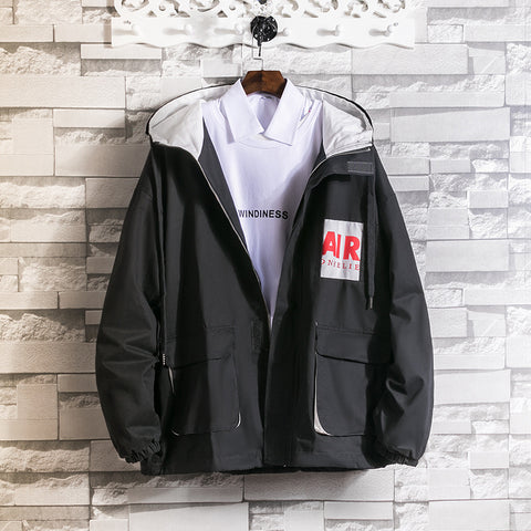 Mens Casual Hooded Jacket