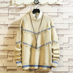 Men's Casual Loose Personality Knit Pullover Sweater
