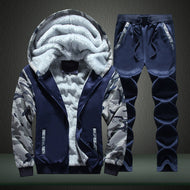 Fashion Color Matching Hooded Padded Warm Suit
