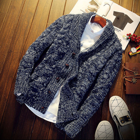 Vintage men's jacket button cardigan
