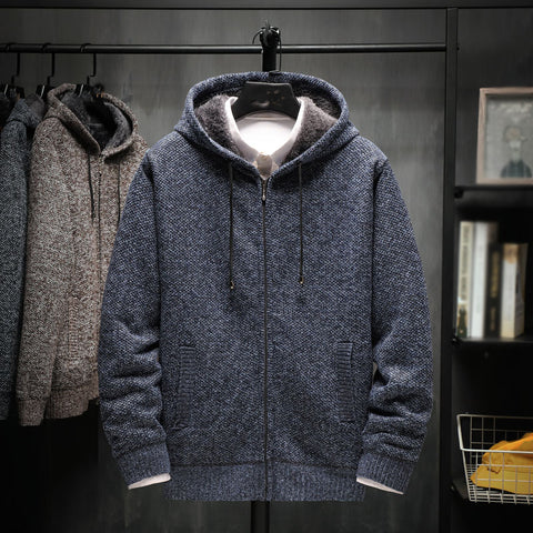 Men's stand collar colorblock coat