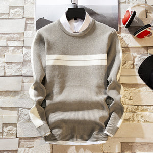 Fashion Round Neck Slim Sweater