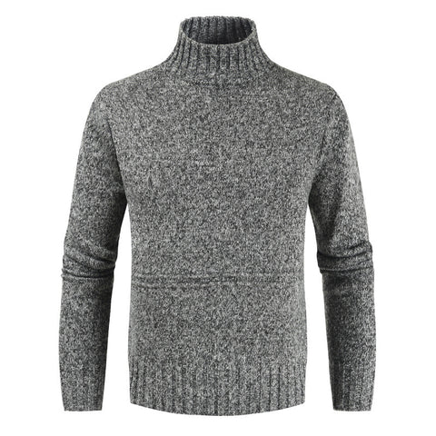 Stylish turtleneck solid color sweater