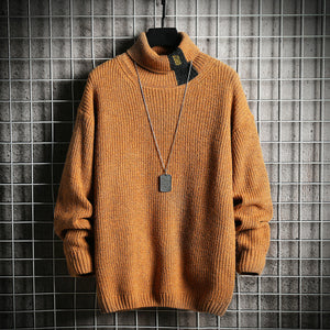 Mens High Turtleneck Sweater Thicken Sweater