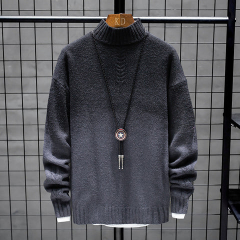 Mens Round Neck Fashion Casual Sweater