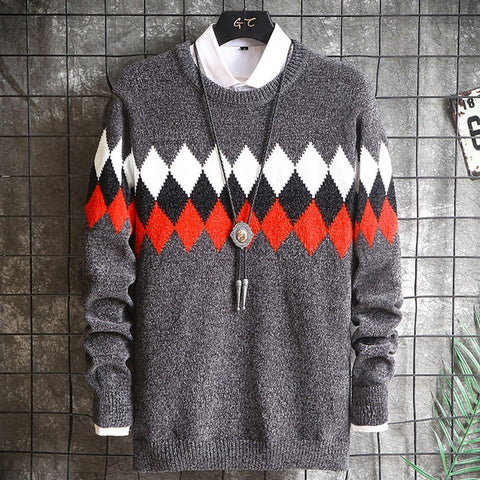 Mens Trendy Slim Joker Sweater