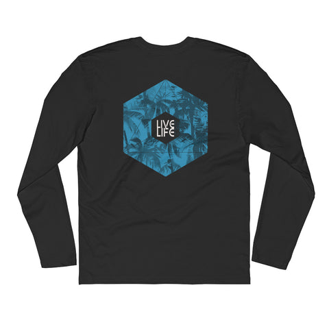 Long Sleeve Fitted Crew - Live Life
