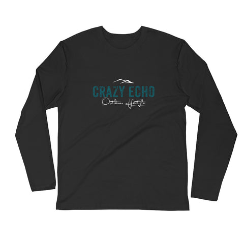 Long Sleeve Fitted Logo Crew