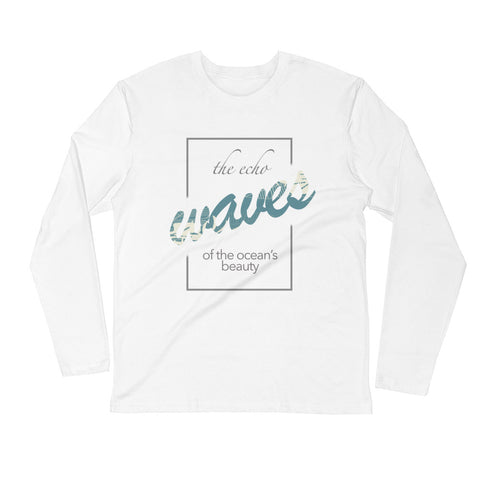 Long Sleeve Fitted Crew - Waves