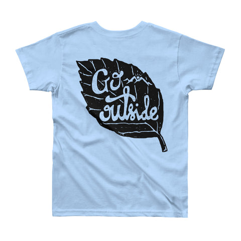 Youth 8-12 Short Sleeve T-Shirt - Go Outside