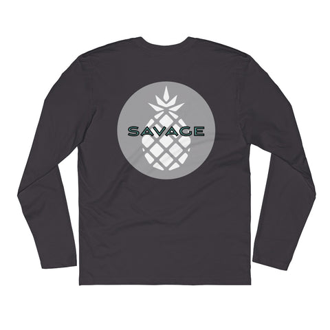 Long Sleeve Fitted Crew - Savage