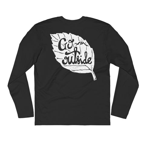 Long Sleeve Fitted Crew - Go Outside