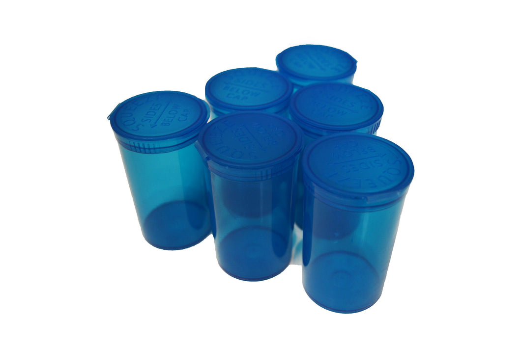 19 Dram Transparent Blue Pop Top Containers 80ml Squeeze Vial Medical Pill Box