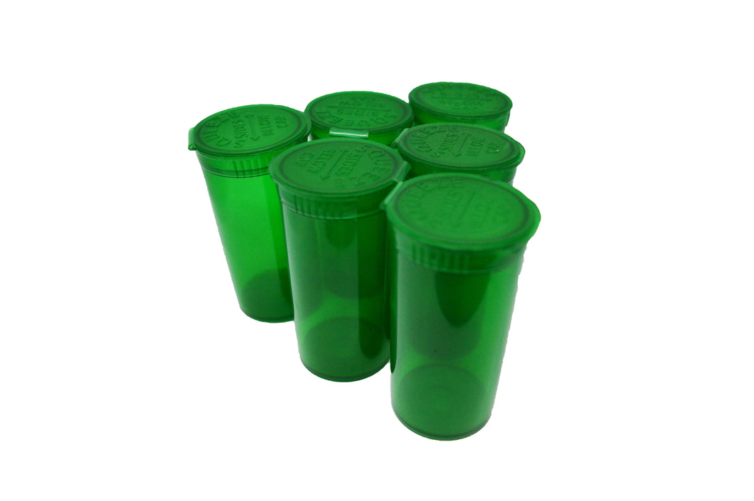 13 Dram Transparent Green Pop Top Containers 50ml Squeeze Vial Medical Pill Box