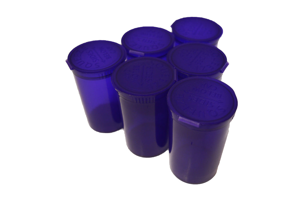 19 Dram Transparent Purple Pop Top Containers 80ml Squeeze Vial Medical Pill Box