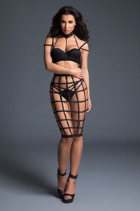 Luscious Cage Skirt With Provocative Lace Bra