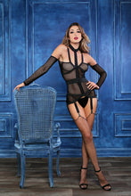 Load image into Gallery viewer, Untamed Heart Corselette With Garters