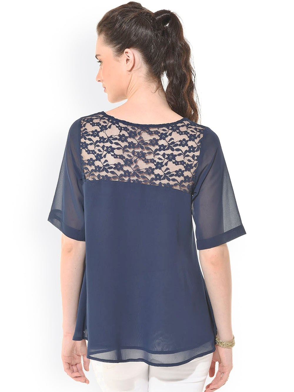 Besiva Navy Top