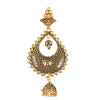Gold-Plated (JHUMKA) Matte Finish Handcrafted Beaded Dome-Shaped Jhumkas