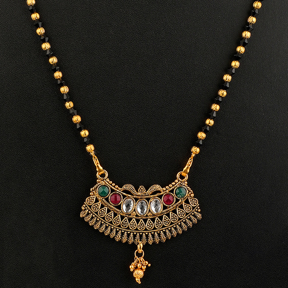 Gold-Plated Handcrafted Mangalsutra Combo Set