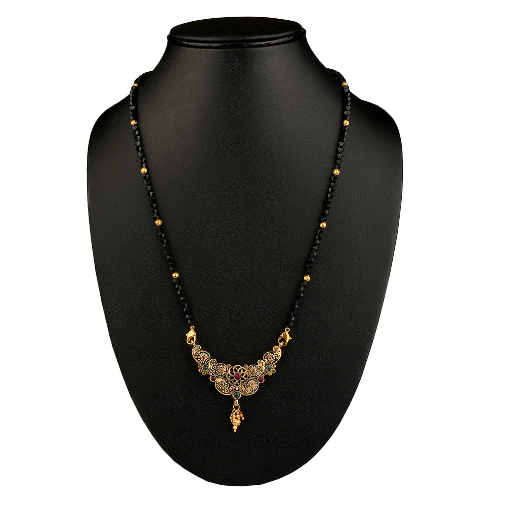 gold-plated mangalsutra set of 2