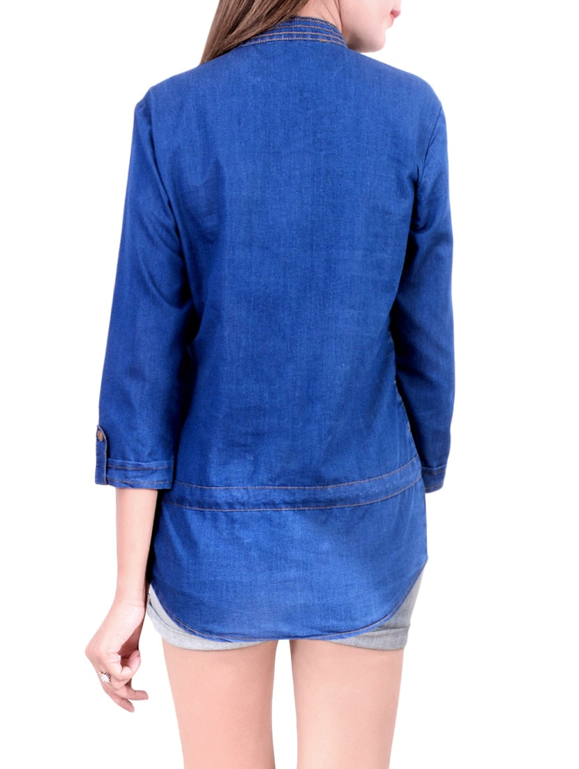 blue denim regular shirt