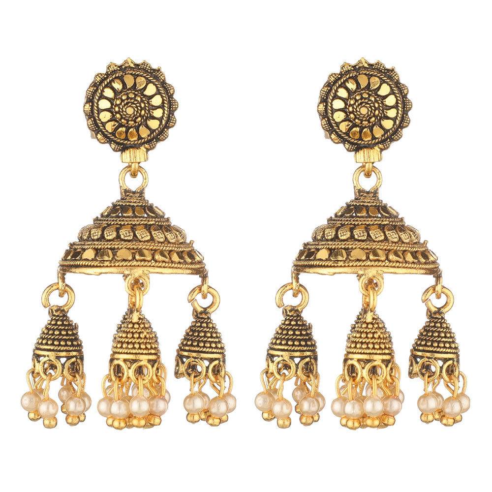 Gold-Plated & Handcrafted Classic Drop Earrings