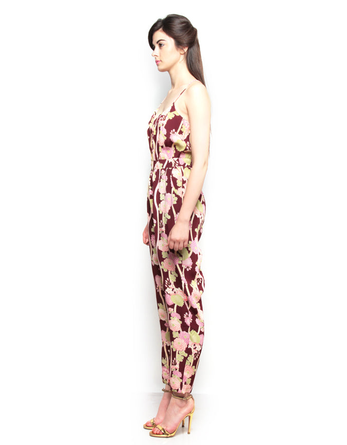 Printed Strappy Jumpsuit