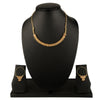 Gold-Plated Stone-Studded Beaded Handcrafted Jewellery Set