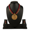 Red & Gold-Plated Oxidised Necklace