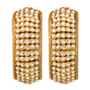 Women Set of 2 Gold-Plated & White Beaded Handcrafted Bangles