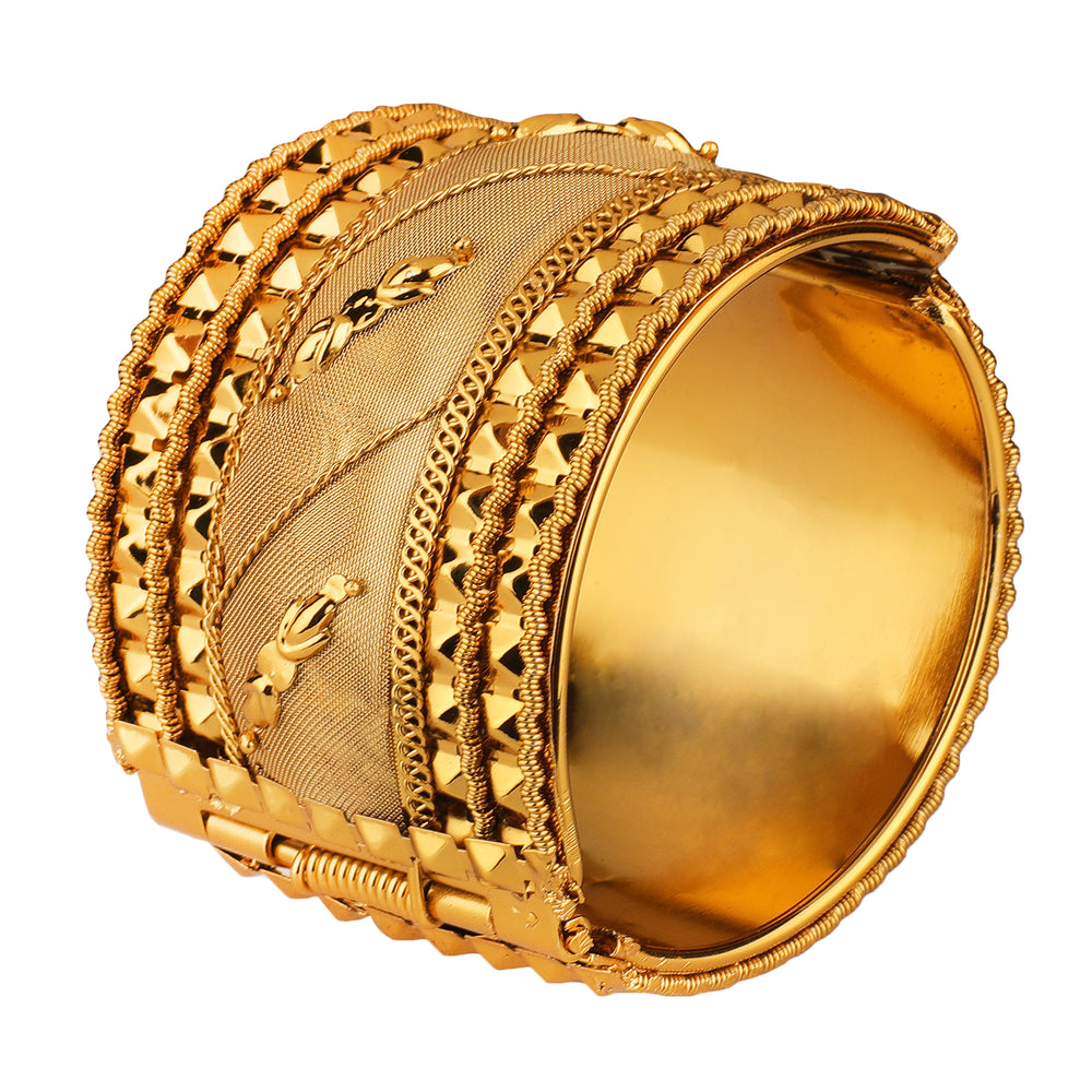 Gold-Plated Women And Girl Kada For Ever Use